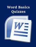 Microsoft Word Basics Set of Quizzes