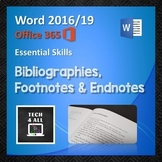 Bibliographies, Footnotes and Endnotes in Microsoft Word