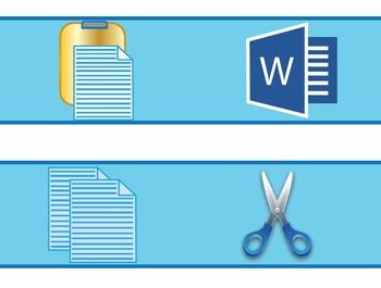 Microsoft Word Bulletin Board Borders #2 * Copy * Cut * Paste
