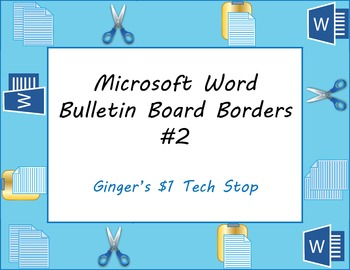 Microsoft Word Bulletin Board Borders #2 * Copy * Cut * Paste