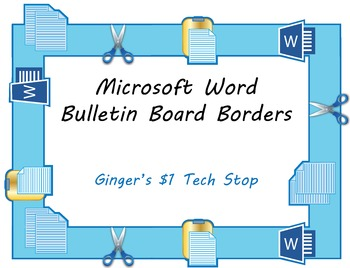 microsoft word bulletin board borders copy cut paste tpt