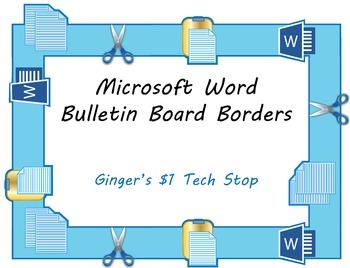 Microsoft Word Bulletin Board Borders * Copy * Cut * Paste