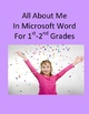 Microsoft Word Bundle of Treasures For 1st-2nd Grades - 3 Units!