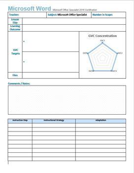 Microsoft Word 2016 Certification: Lesson Template Bundle