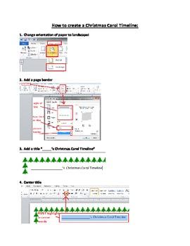 Microsoft Word Christmas Carol Timeline