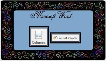 Microsoft Word Columns & Format Painter