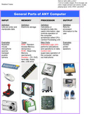 Microsoft Word Computer Parts Table