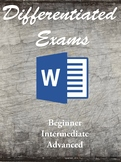 Microsoft Word Differentiated Exams- No prep!