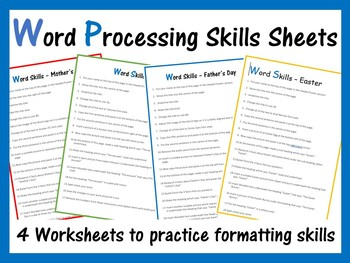 Microsoft Word Exercise Worksheets By Computer Creations Tpt Microsoft Word Matching Worksheets Microsoft Word Exercise Worksheets