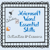 Microsoft Word Essential Computer Skills Activities & Lessons
