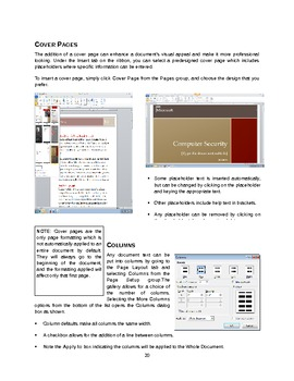 Microsoft Word Formatting Manual