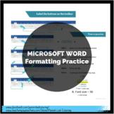 Microsoft Word - Formatting Practice