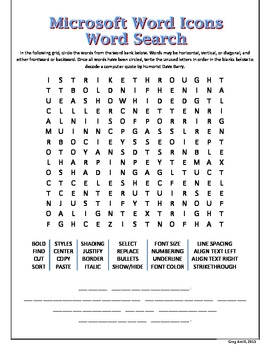 Microsoft Word Icons Word Search