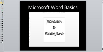 Microsoft Word Introduction and Assessments
