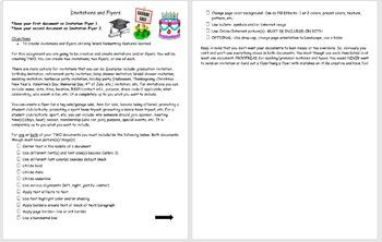 Microsoft Word Invitations and Flyers Project- Can Use with Any Version