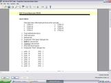 Microsoft Word Keyboard Shortcuts Examview Test Bank