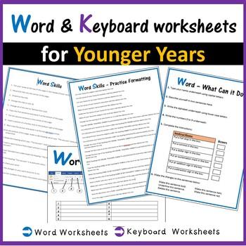 Microsoft Word \u0026 Keyboard Worksheets