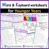 Microsoft Word & Keyboard Worksheets