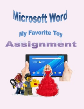 Microsoft Word My Favorite Toy Assignment