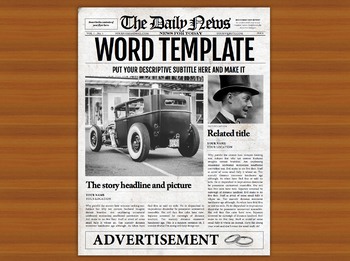 1 page newspaper template microsoft word 8 5x11 inch by newspaper