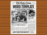 1 Page Newspaper Template Microsoft Word (8.5x11 inch)