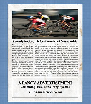 4 Page Newspaper Template Microsoft Word (8.5x11 inch)