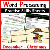 Microsoft Word Processing Activity - December & Christmas