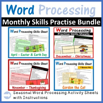 Microsoft Word Processing: Monthly Seasonal Activities - Growing Bundle
