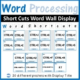 Microsoft Word Processing Shortcuts Word Wall: Classroom Decor Bulletin Board