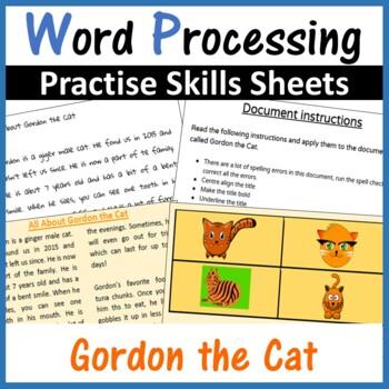 Microsoft Word Processing Activity - Gordon The Cat
