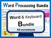 Microsoft Word & Keyboard Worksheets Bundle – Updated 2018