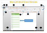 Microsoft Word Screen Elements Worksheet