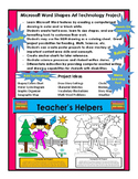 Microsoft Word Shapes Art Poster Project Directions Sample