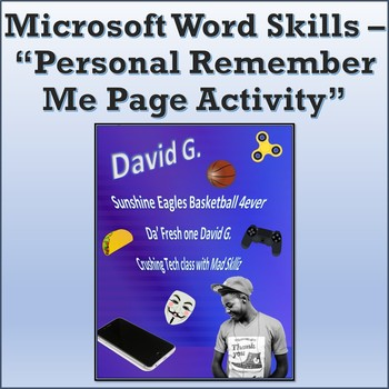 Personal Remember Me Page Activity for Teaching Microsoft Word Skills
