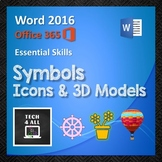 Symbols, Icons & 3D Models in Microsoft Word