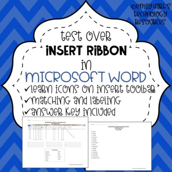 Microsoft Word THE INSERT TAB Toolbar Test