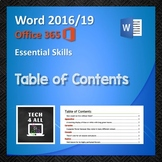 Table of Contents in Microsoft Word