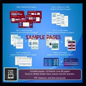 Microsoft Word: Tables