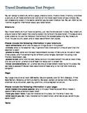 Microsoft Word Travel Destination Test Project - Sub Folder
