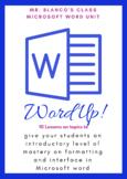 "Microsoft Word Unit "" Word Up"""