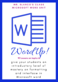 "Microsoft Word Unit "" Word Up"""
