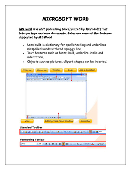 Microsoft Word (Upper Elementary)