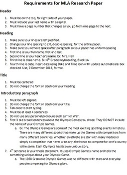 Microsoft Word Winter Olympics Research Paper