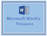 Microsoft Word's Thesaurus