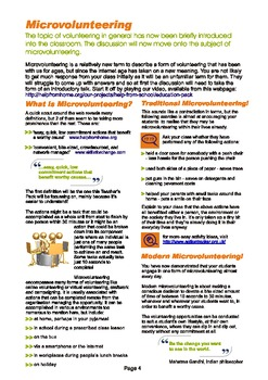 Microvounteering: A Teachers Resource Guide