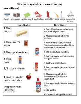 Recipe: Microwave Apple Crisp