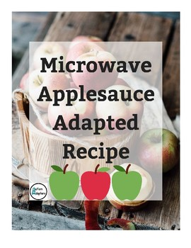 Microwave Applesauce Adapted Recipe