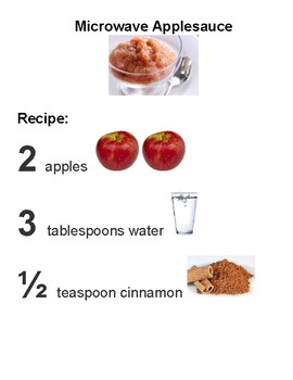 Microwave Applesauce Adapted Recipe