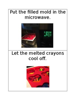 Microwave Melted Crayons Visual Instructions