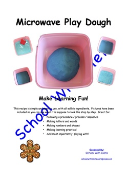 Microwave Play Dough Recipe - Simple With Edible Ingredients & Photos